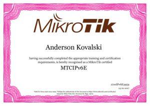 Certificado MTCIPv6